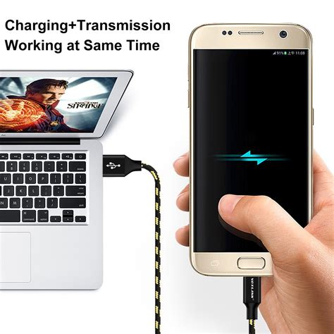 Charger Mobil Fast Charging Samsung voxlink micro usb cable fast charging 1m 3ft mobile phone