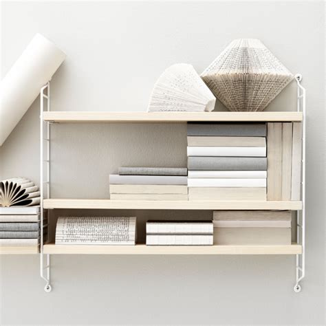 String Pocket Shelf by String String Pocket Shelf Ash White Design Shop