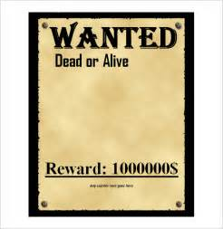 Wanted Poster Template Word by 4 Free Wanted Poster Templates Excel Pdf Formats