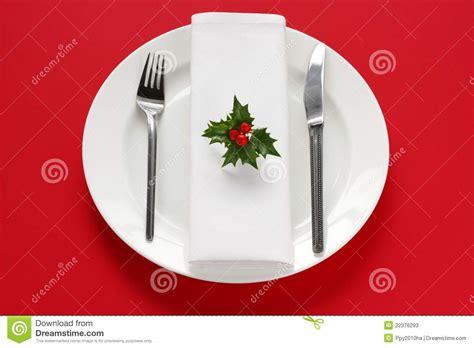 table setting  christmas dinner stock image image