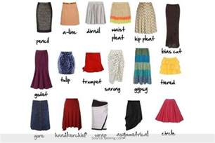 Types Meaning the skirt vocabulary different types of skirt styles