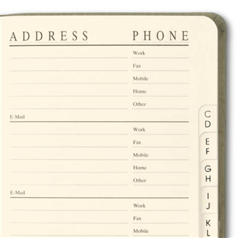 Address Book Pocket Size Address Book Gallery Leather
