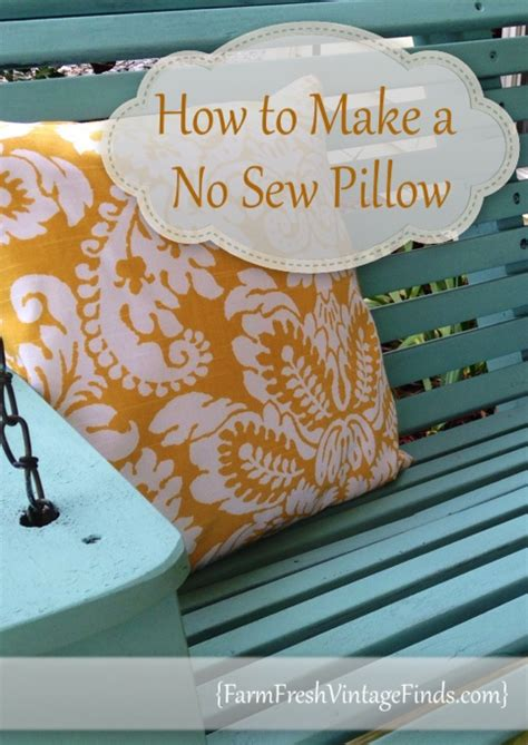 How To Make No Sew Throw Pillows how to make a no sew pillow and a giveaway farm fresh