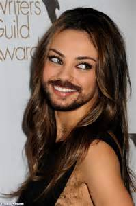 hair vagainas mila kunis with a beard pictures freaking news