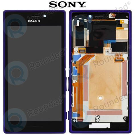 Hp Sony M2 D2302 sony xperia m2 dual d2302 display module frontcover lcd digitizer purple