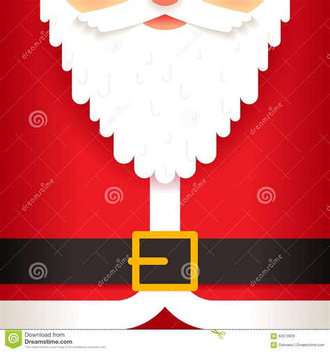 santa claus card template santa claus beard belt greeting card template flat stock