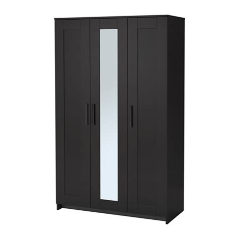 brimnes wardrobe with 3 doors black