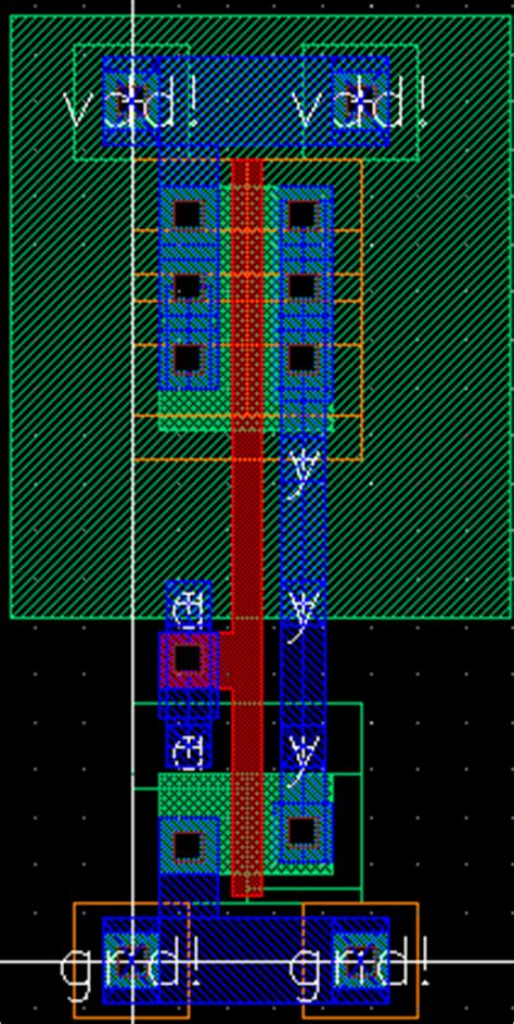 inverter layout design cadence using the layout editor