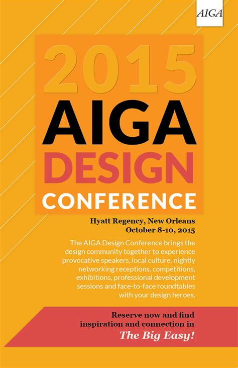 design poster conference 2015 aiga design conference poster on behance