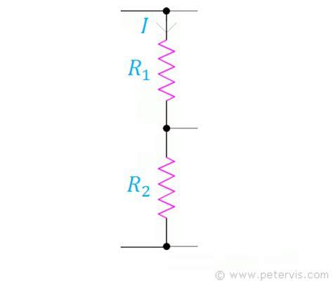 resistor values formula resistors in series