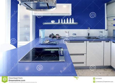 blue house design blue white kitchen modern interior design house stock image image 18176443
