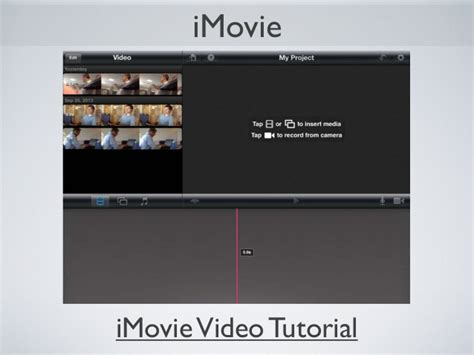 imovie tutorial for slideshow demonstrate knowledge with digital storytelling