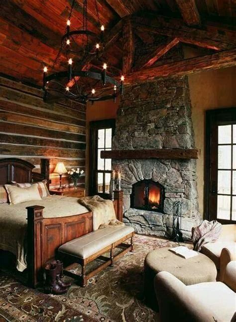 log cabin bedroom log cabin bedroom dream home pinterest