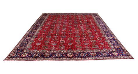 Handmade Rug 12x16 Persian Tabriz Old Carpet 12x16 Area Rugs