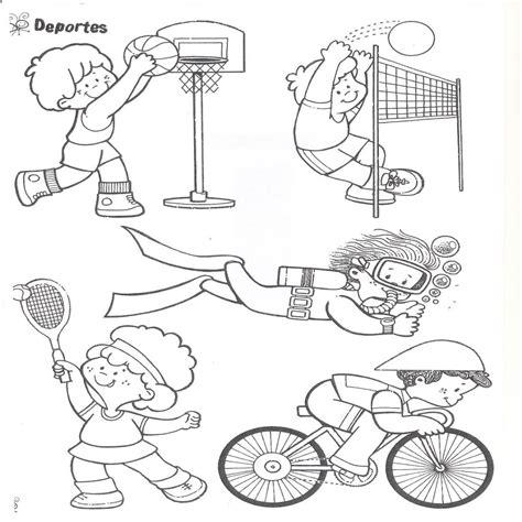 imagenes niños haciendo deporte para colorear dibujos para colorear de deportes para ni 241 os