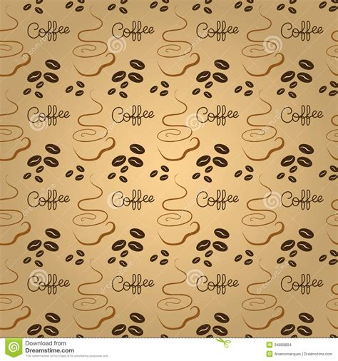 seamless pattern coffee coffee pattern stock images image 34889894