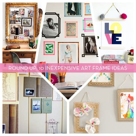 Repurposed Home Decor by Roundup 10 Inexpensive Diy Art Amp Picture Frame Ideas