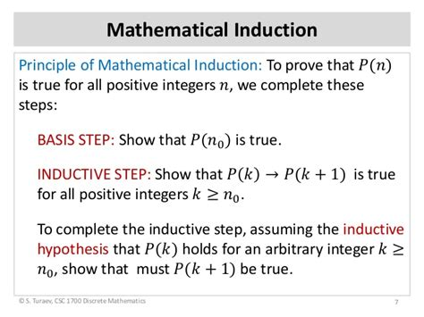 principle of induction math induction principle slides