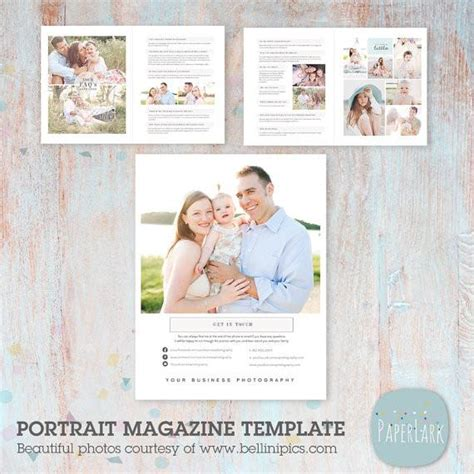 24 page portrait photography magazine template pg014