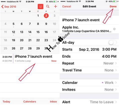 Delete Calendar How To Delete Update Or Add Event In Iphone Calendar Ios 10