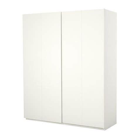 Ikea Pax Wardrobe Dimensions - ikea pax wardrobe white with hasvik sliding doors white