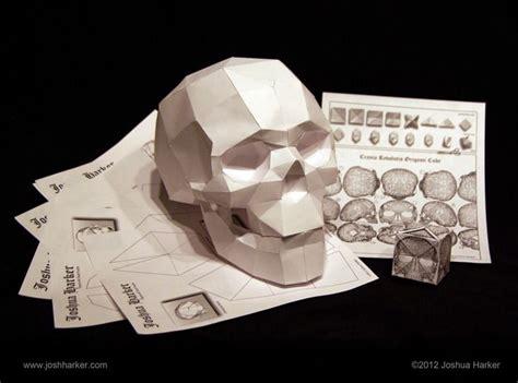 Skull Origami - papercraft skull by joshua harker la calaca