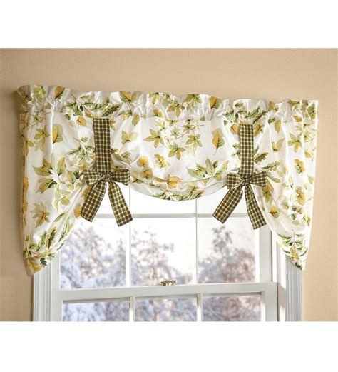 Tie Up Valance Kitchen Curtains Tie Up Floral Cotton Window Valance With Contrasting Ties Home Decorating Pinterest Home