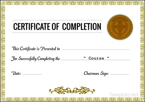 sle course completion certificate template 28 images