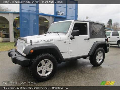 jeep rubicon white interior bright white 2012 jeep wrangler rubicon 4x4 black