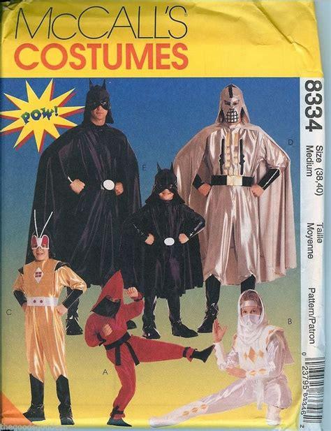 ninja costume pattern mccalls pow it s batman mccalls 8334 batman ninjas antman