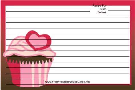 cupcake recipe card template this pink cupcake recipe card features a cupcake