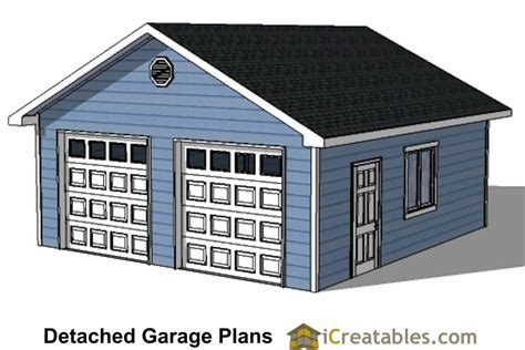 2 Door Garage | diy 2 car garage plans 24x26 24x24 garage plans