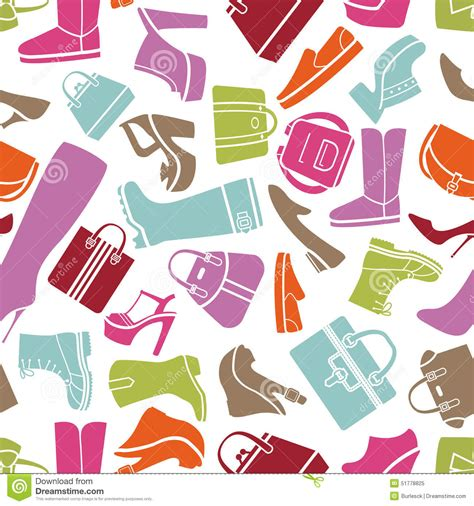 fashion vector background pattern fashion shoes pattern stock vector image of pattern