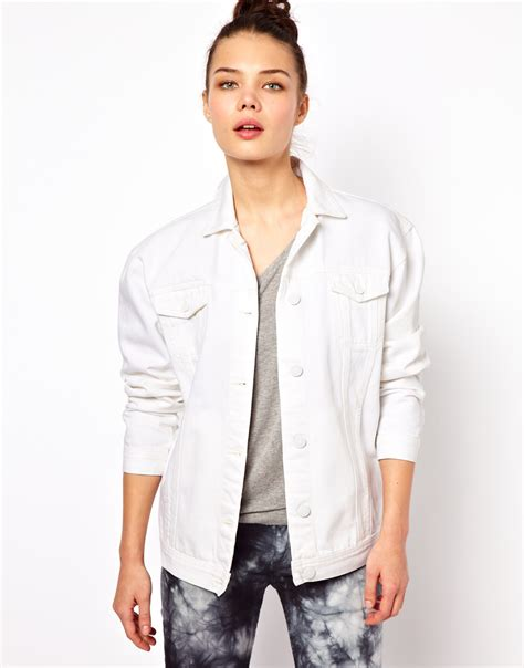 X98 White Oversize Jacket lyst won hundred josie oversized denim jacket in white