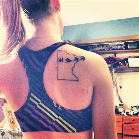 minnesota birds tattoo in the land of 10 000 lakes