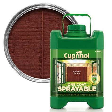 cuprinol  sprayable fence paint autumn brown leekes