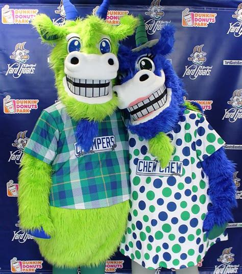 the backyard goat photo of the day the yard goats mascots are finally here and they are fantastically