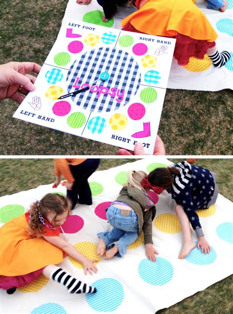 birthday themes games twister inspired quot loopsy quot party game paging supermom