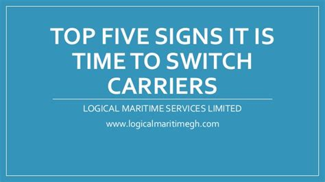 Top 5 Signs That Its Time To Call It Quits by Top Five Signs It Is Time To Switch Carriers
