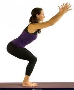 Chair Yoga Pose Utkatasana Chair Pose Yoga Poses Yoga Positions