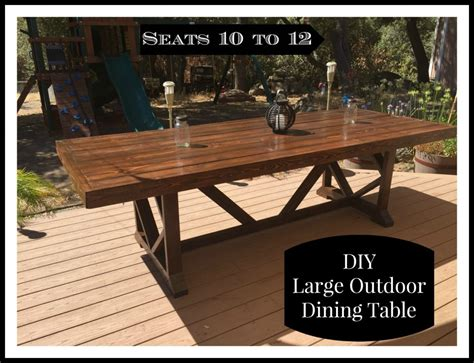 diy large outdoor dining table shanty  chic