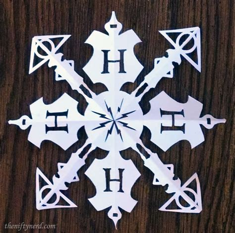 printable diy snowflakes paper harry potter snowflake with printable template