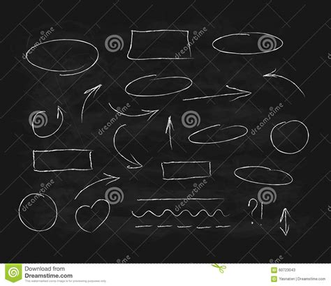 design elements in writing hand drawn chalk scribble design elements stock vector