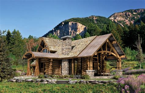 modern log home plans rustic log home tradition modern living