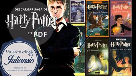 harry potter libro pdf descargar descargar saga harry potter pdf youtube