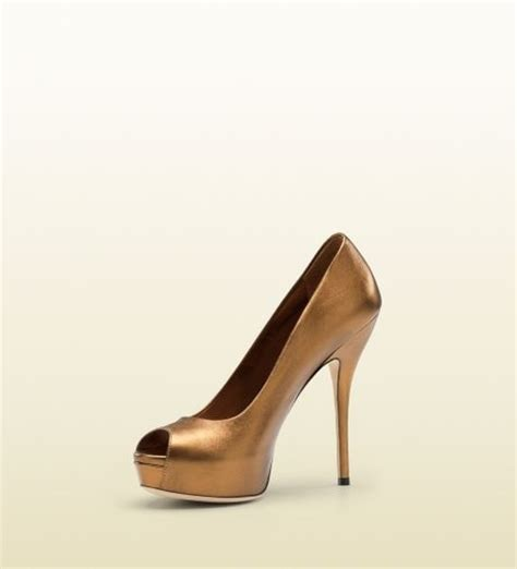 gucci high heel gucci noah high heel cutout in beige lyst