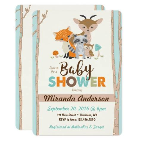 Woodland Themed Baby Shower Invitations by Woodland Baby Shower Invitations Babyshowerinvitations4u