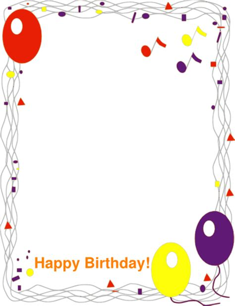 happy birthday photo frame template happy birthday border clip at clker vector clip
