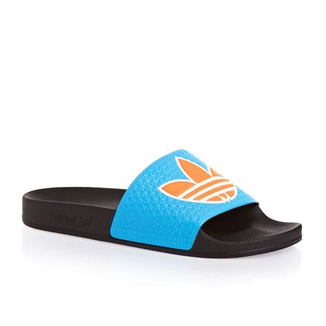 Adidas Flip Flop adidas originals adilette trefoil flip flops samba blue