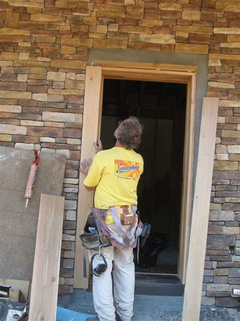 How To Install A New Front Door Exterior Door Installation New Home Construction